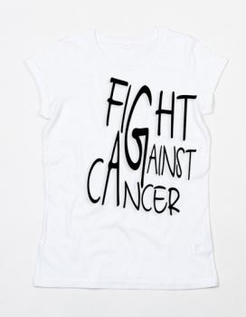 Women`s Roll Sleeve T [Fight against Cancer]